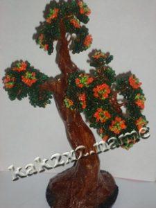 Дерево из бисера подробнее