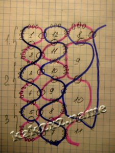 Серьги-кубики из бисера, схема 3