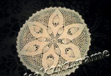 Вязание крючком, салфетка