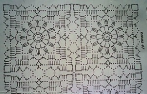 схема квадрата для кофты