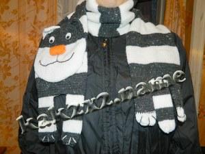 Котошарф — оригинальный шарф в виде кота