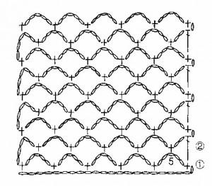 схема вязания сетки