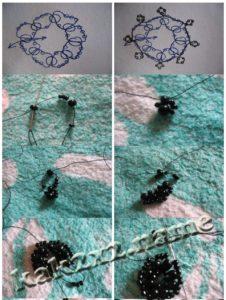 схема и описание браслета из бисера